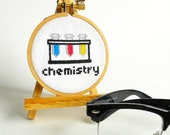 Cross-Stitch CHEMISTRY SET 002- Complete DIY Craft Kit with Beginner Embroidery Tutorial