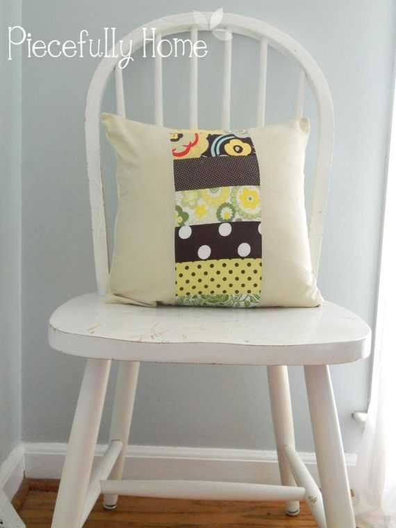 ON SALE! Patchwork Pillow 16x16 cover