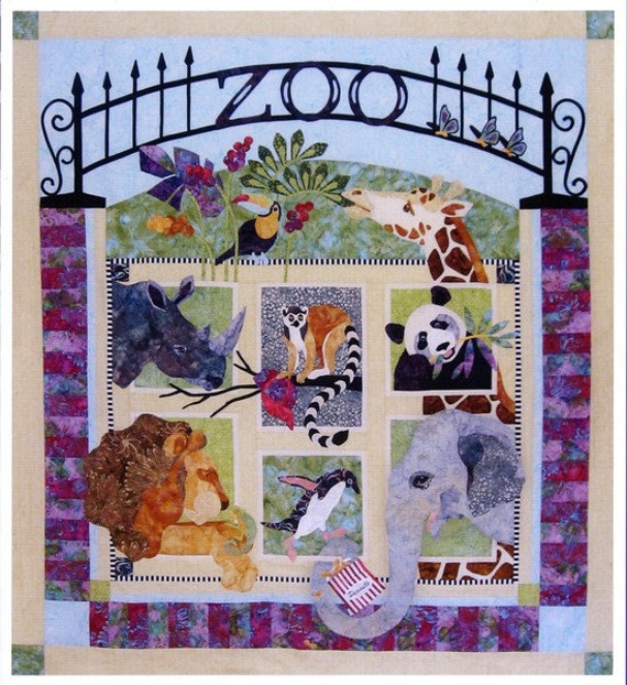 Java House Zoo It Yourself Bom Animal Quilt 7 Pattern Set