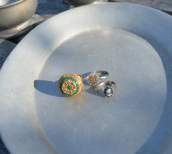 Lot of 3 Vintage Costume Jewelry Rings