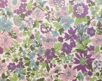 Liberty tana lawn printed in Japan - Emily - Purple khaki