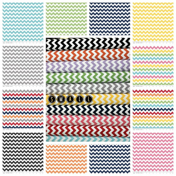 In stock, Small Chevron fabric by Riley Blake Designs - Create your own Fat Quarter Bundle- 6 total