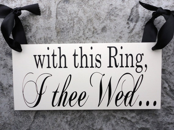 With This Ring I Thee Wed Vows