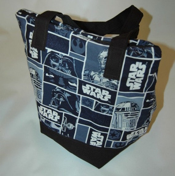 Star Wars Insulated Zip-up Lunch bag (Blue Print Cotton)