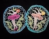 Ballerina Hand Dyed Venise Lace Applique Embellishment
