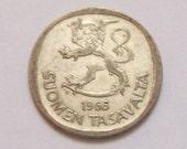 Finland Silver Coin 1960s 1 Markka