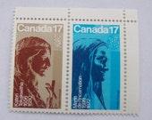 Saint Kateri Tekakwitha Stamp 1981 Saint Marie de l'Incarnation Quebec