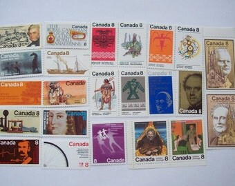40+ diff 8c Canada Mint Stamps 1960s 1970s
