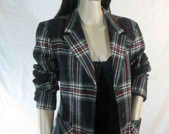 70's WOOL Pendleton BLAZER Plaid Jacket Size M L
