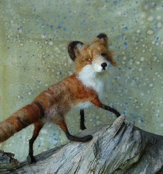 Needle Felted Proper Fox