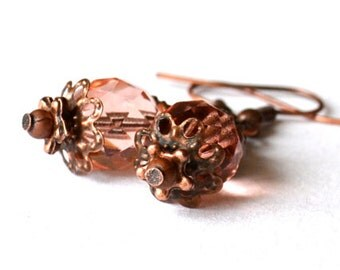 Pink beaded earrings for princess