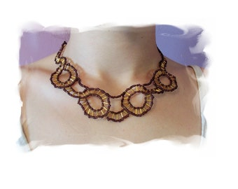Spokes Necklace Pattern, Beading Tutorial in PDF
