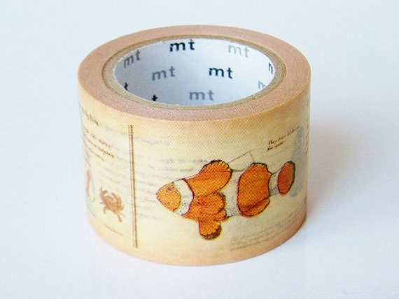 MT ex Encyclopedia Japanese Washi Tape / 30mm wide Sea Creatures