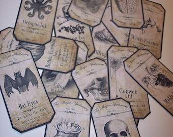 Steampunk Apothecary Labels Set of 15
