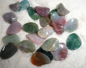 SALE. Indian Agate, 16mm, 23 beads, Soft rectangles with a Twist