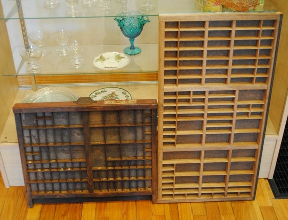 RESERVED LISTING for JAMIE Vintage Printers Drawers