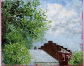 Original Palette Knife Landscape 8 x 10 Oil Painting - The High View