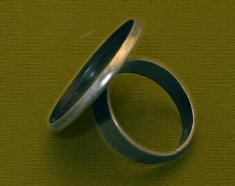 10 PCS 23mm BRASS base Trays Circle Adjustable black blank ring