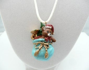 3D Christmas Toy Sack Necklace