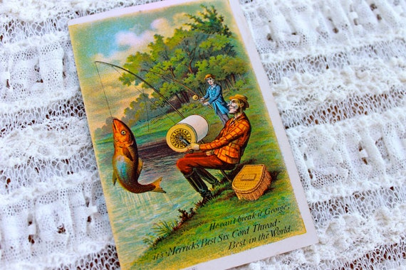 Victorian Trade card for Merrick Thread, Fishing