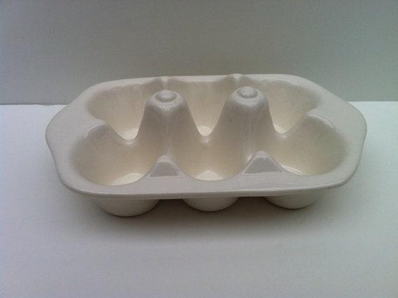 Ceramic Half Dozen Egg Carton