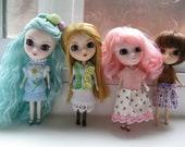 Petite Blythe, Mini Pullip, Little Dal Fashion Doll Clothing