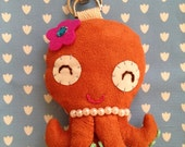 HOLIDAY'S SALE---Cute Girly Squid Keychain