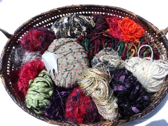 yarn destash 16 small sampler skeins balls