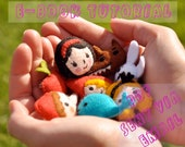 PDF Fairy tales felt mascots brooches tutorial e-book DIY