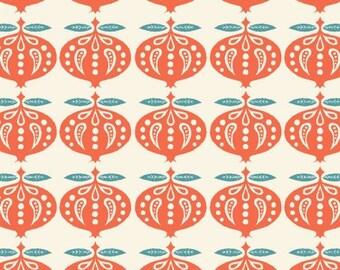 Organic Cotton Fabric-monaluna -Raaga- POMEGRANATE  - low shipping