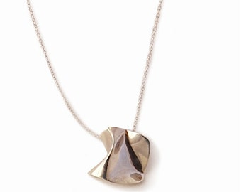 Sterling silver pendant handcrafted on chain