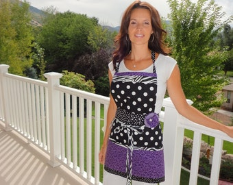 Love That Purple ~ Barbie Pockets and More Style ~ Women's Full Retro Modern Apron ~ 4RetroSisters