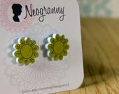 Lil' Daisy Studs Wood Earrings