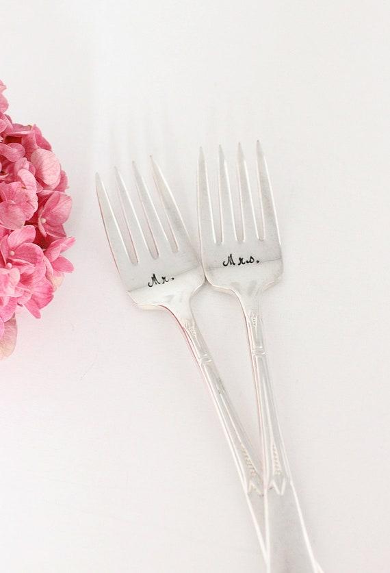 Mr. Mrs. Forks 1933 Inspiration Wedding Forks. Art Deco, Boho
