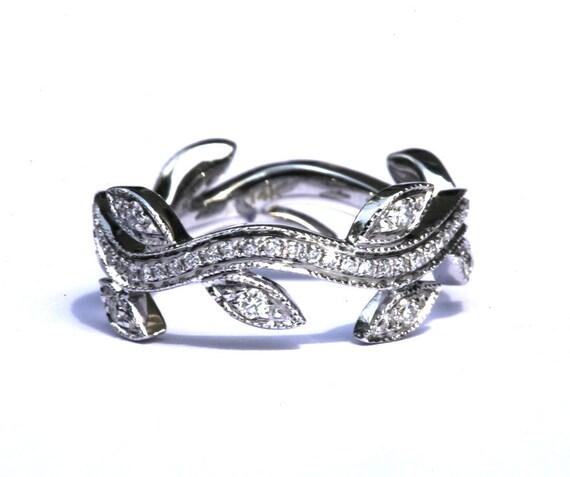 Custom Listing For Milgrain WEDDING BAND Flower Diamond