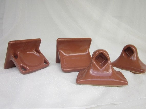 Brown Ceramic Tile Soap Dish Toothbrush Holder And Towel Rack