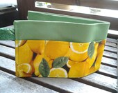 24 inch / 7 pockets Purse / Bag Organizer Insert - Juicy Lemon print fabric