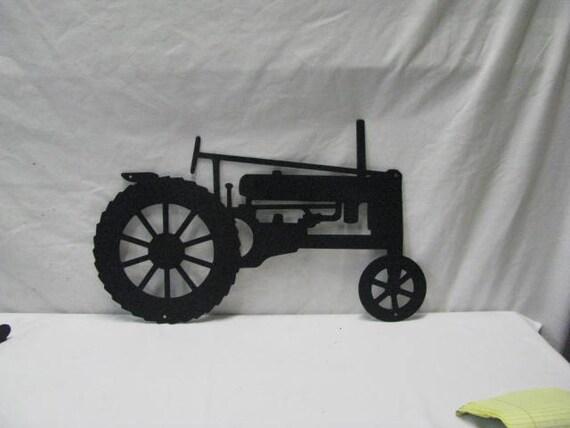 Metal Art Tractor : Tractor metal farm wall yard art silhouette by cabinhollow