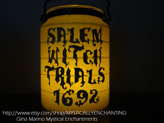 Halloween Lantern Salem Witch Trials 1692 Memorial Candle