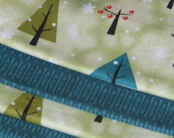 Cloth Napkins - Teal Trees