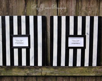 Large 4x6 frame set Striped in any color to match your decor
