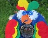 custom large tropical PARROT Lens Pet for your camera