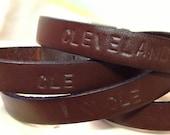 Custom Leather Bracelet - unisex