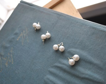 Swarovski White Crystal Pearl 10 mm Stud Earings