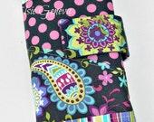 Gray, Purple, and Aqua Knitpicks Interchangeable or Straight Knitting Needle Organizer / Case