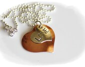 LOVE Necklace - christian religious hand stamped jewelry - free shipping