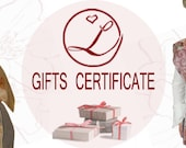 E-GIFTS CERTIFICATE for any sum you wish