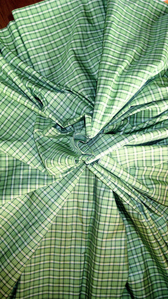 RESERVED for Meadow/ Vintage Silk Fabric Yardage Taffeta Weight