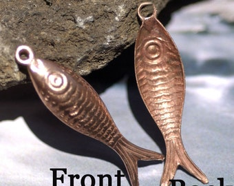Copper 3D Ocean Fish Blank Cutout  for Metalworking Blanks Enameling Jewelry Making Charms
