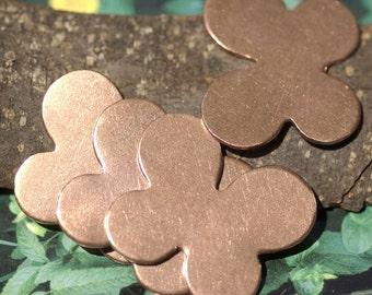 Copper Rounded Winged Butterfly for Blanks  Enameling Stamping Texturing